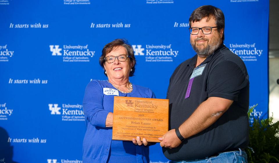 OSA Winner Brian Lauer, Department of Entomology and Department of Plant & Soil Sciences