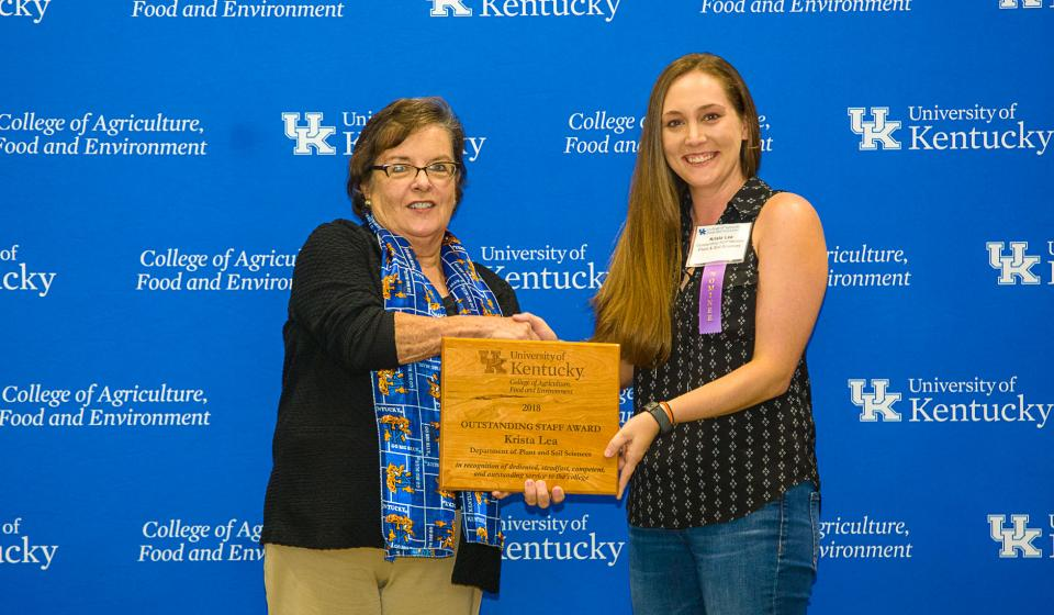 OSA Winner Krista Lea, Department of Plant & Soil Sciences