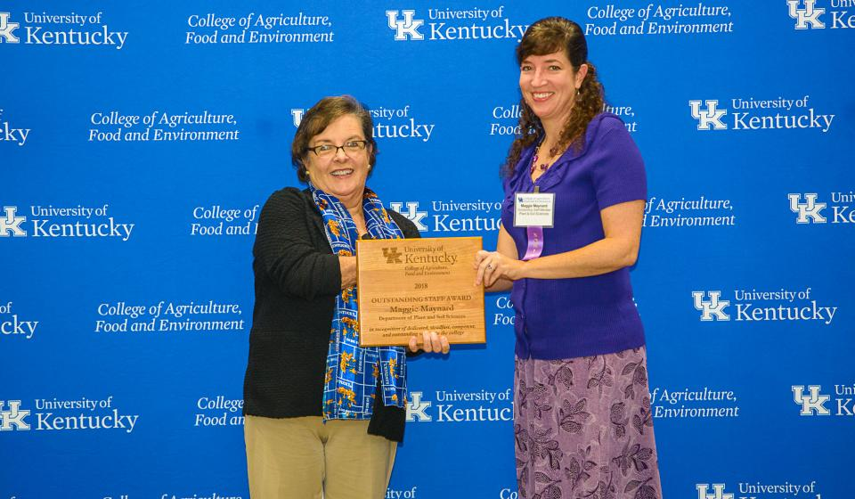 OSA Winner Maggie Maynard, Department of Plant & Soil Sciences