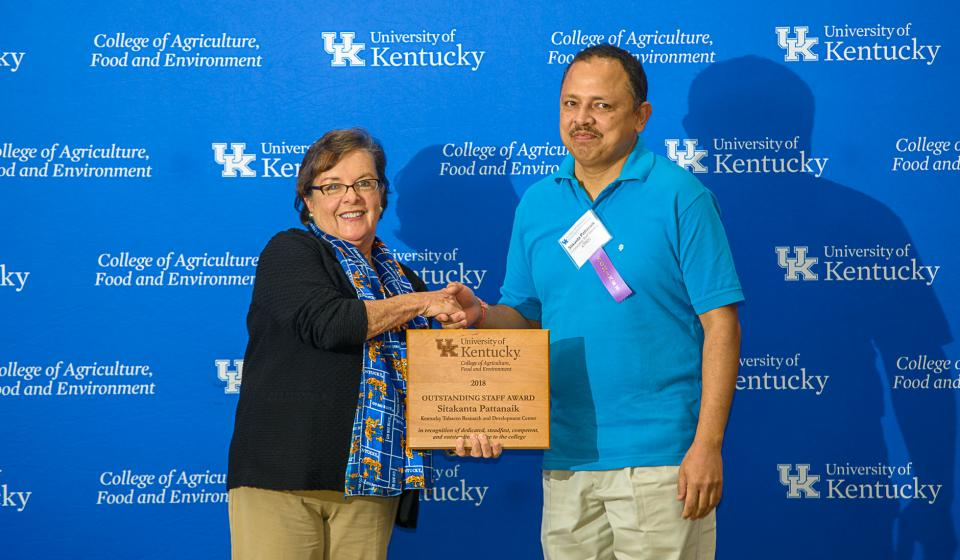 OSA Winner Sitakanta Pattanaik, Kentucky Tobacco Research & Development Center