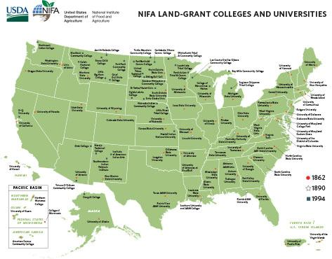 NIFA Land-Grant Colleges and Universities