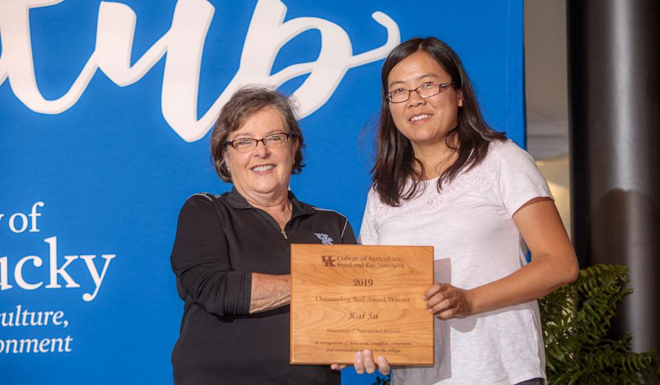 OSA Winner Kai Su, Department of Plant & Soil Sciences